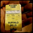 Ticket Stub from 1993 Bills Comeback Win Over Oilers